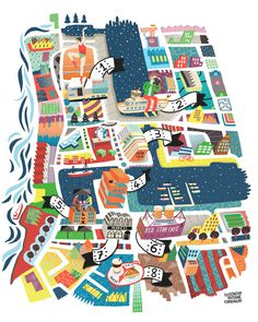 Brussel Airlines monthly maps new! • Antoine Corbineau • #illustration