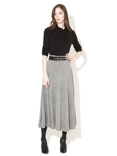 French Connection Ruby Ribs Flared Skirt #fashion #skirt #grey