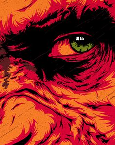 Dawn Of The Planet Of The Apes on Behance #dawn #apes #vector #of #ceasar #ape #the #eye #illustration #film #planet