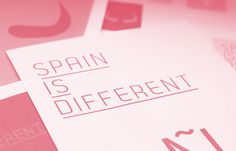 Spain is different #branding #brand #identity #logo #pain #paper