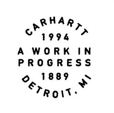 Carhartt DAN CASSARO YOUNG JERKS Design/Animation/Illustration #mark #type #logo