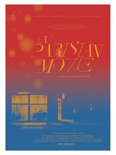 A_Parisian_Movie_Poster.jpg 400×533 pixels #poster #colors #gradient #typography