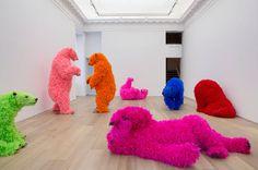 paola pivi bears at galerie perrotin designboom #bears