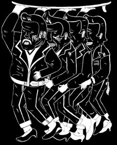 tranny greasers , screen print #white #surf #negative #print #black #space #gender #screen #vintage #tattoos #and #heels #trans #high