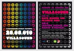 Francesco Vetica | Designer | Villasound #disco #events #flyer #design #adv #grahic #poster #music #party