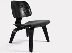 I Love Dust | Allan Peters #eames #chair #black #typography
