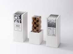 DEFINE THE DIFFERENCE 3d packaging by Puripong Limwanatipong bangkok thailand design mindsparkle mag 1 food chocolate minimal white geometry