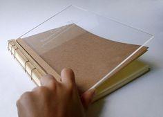 Japanese binding with acrylic and wood #cover #binding