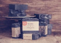 THE GREATER GOODS #skincare #packaging #charcoal #goods #black #the #wood #soap #greater #beauty