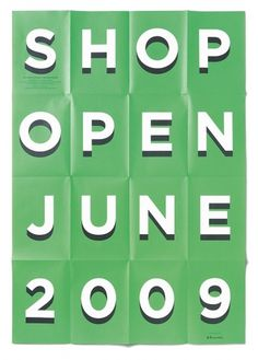 SHOP Summer Party 2009 « Studio8 Design #type #poster