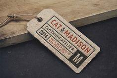 Vintage Label Tag MockUp