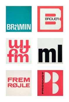 Friday find: Scandinavian logos from the 1960s & 70s #logo #1960s #scandinavian #1970s