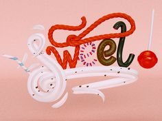 Sweet! by Jean Pierre Le Roux (jeanpierreleroux.com) #lettering #cgi #design #digital #arts #3d #magazine #typography