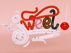 Sweet! by Jean Pierre Le Roux (jeanpierreleroux.com) #lettering #cgi #design #digital #arts #3d #magazine #typography