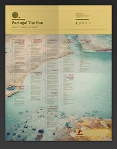 The Visual Mixtape on the Behance Network #portugal #map #the #poster #man