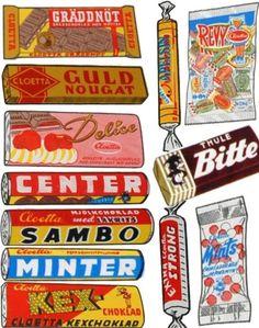 Godis 1960 talet Marabou, Cloetta, dajm, dixi, rio, japp, crispi, domino, figaro, pigall #emphemera #sweets
