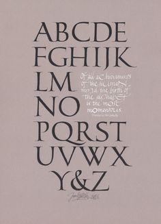 Roman Capitals Alphabet - Joan Quirós Calligraphy