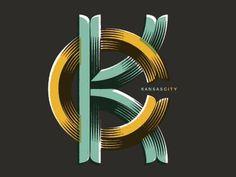 typeverything.com, KC monogram by Preston Brigham - Typeverything #kansas #city #mono #type #typography