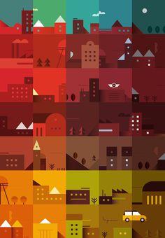 Romualdo Faura / Yorokobu Calendar + Mini #illustration #graphic #information #color #gradient