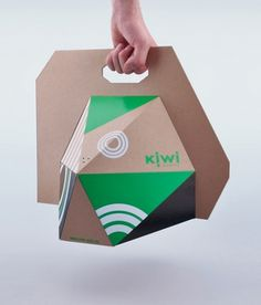Kiwi : Lovely Package . Curating the very best packaging design. #packaging #board #bag #angular #dimension #carrier #flat pack