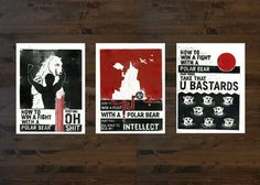 How to Win a Fight With a Polar Bear #katie #print #linoleum #steward #by