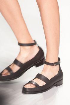 MOONMUD #open #sandal #black