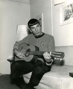 spock playing guitar