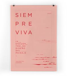 siempre viva #pink #type #red #poster