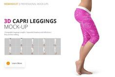 3D Capri Leggings Mockup PSD