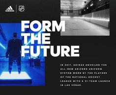 Adidas x NHL – Identity + logo design with and emphasis on sports / athletics.