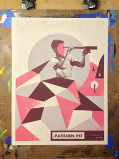Passion Pit Series Nerl Says Design #passion #pit #print #gig #poster