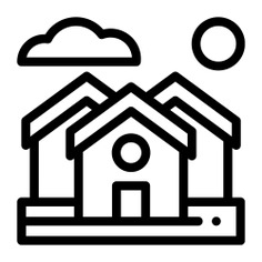 See more icon inspiration related to neighborhood, town, street, architecture and city, urbanization, houses, house, village, buildings and home on Flaticon.