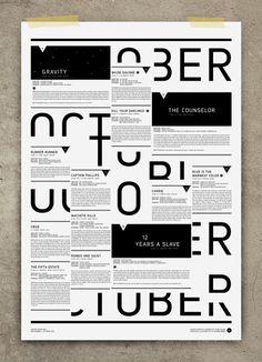 STUDIO REGIA #calendar #poster #typography