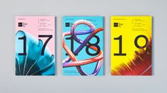Posters, programme, and brand identity system by New York based Mother Design for the AIGA Design Conference