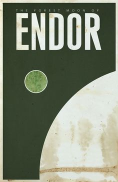 star_wars_poster_minimalist_travel_endor #design #graphic #wars #star #poster