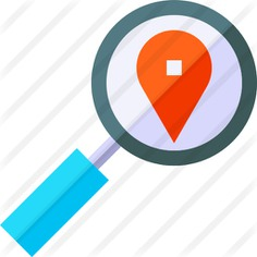 See more icon inspiration related to maps and location, loupe, map pointer, map point, map location, placeholder, navigation, magnifying glass, pin, point, search, interface and signs on Flaticon.