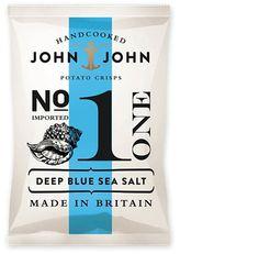 design work life » John & John Crisps Packaging #packaging #design #chips #potato #typography