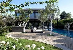 Inspiring Private Residence Offering Shade Under the Israeli Sun #architecture
