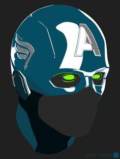 Captain America Demon - Ische Designs #comics #captain america #super hero #ische designs