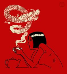 tumblr_m70j98ygyx1qfkax5o1_500.jpg (JPEG Image, 500 × 550 pixels) #dragon #red #tea