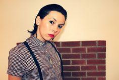 ★ Naim Sheriff : Creative Design ★ #red #girl #shirt #check #photography #lipstick