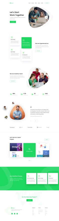 Agency Landing Page Concept by Shah Alam