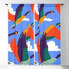 High On Life #illustration #wildlife Blackout Curtain #Painting #Birds #Nature #Fly #Sky #Clouds #Boho #Eclectic #Bohemian #Modern #Colorful #Vibrant #Animals #Migration #Wings #Freedom #New-years #Gift-ideas
