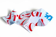 Frozen & Cool by Niermala B. Timmers www.niermalatimmers.com #cool #font #fold #timmers #fox #frozen #design #graphic #popup #brown #quick #niermala #art #papercraft #type #ice #folding #3d #magazine #typography