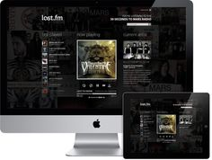 Last.fm Website Redesign on the Behance Network #radio #ipad #website #last #music #imac #fullscreen