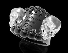 Personalized Stainless Steel Skull Pendant For Bikers .