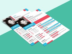 Free Flat Chic Resume Template for Any Job Opportunity