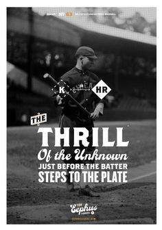The Unknown « Eephus League #poster #baseball