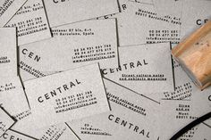 THEARTISTANDHISMODEL » Central Magazine #stamp #business #card #cards #minimal #paper
