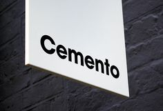 Cemento_16 #sign #logo #visual #identitity